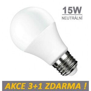 LUMAX LED žárovka 15W 15xSMD2835 1200lm E27 Neutrální bílá